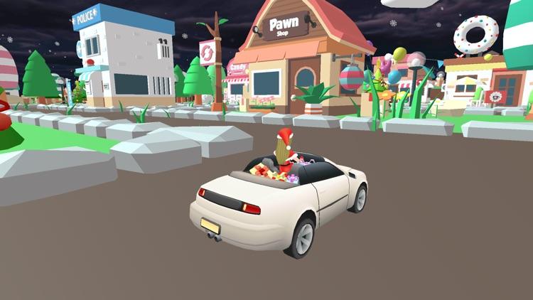Christmas Santa Girl Car Drive screenshot-4