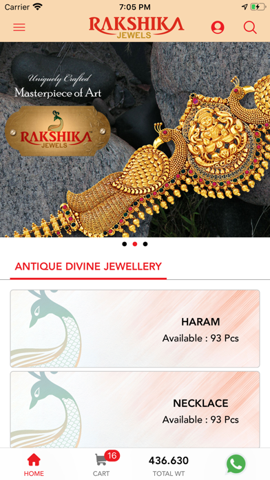 Rakshika Jewels - Online Screenshot
