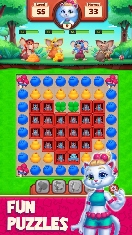 Cat Heroes - Match Puzzle Game screenshot-0
