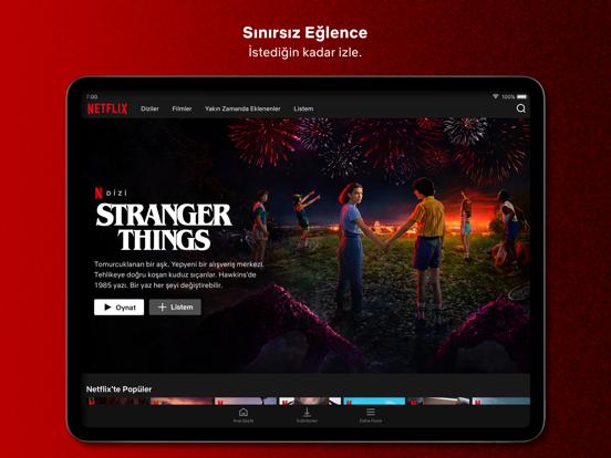 Netflix ipad ekran görüntüleri