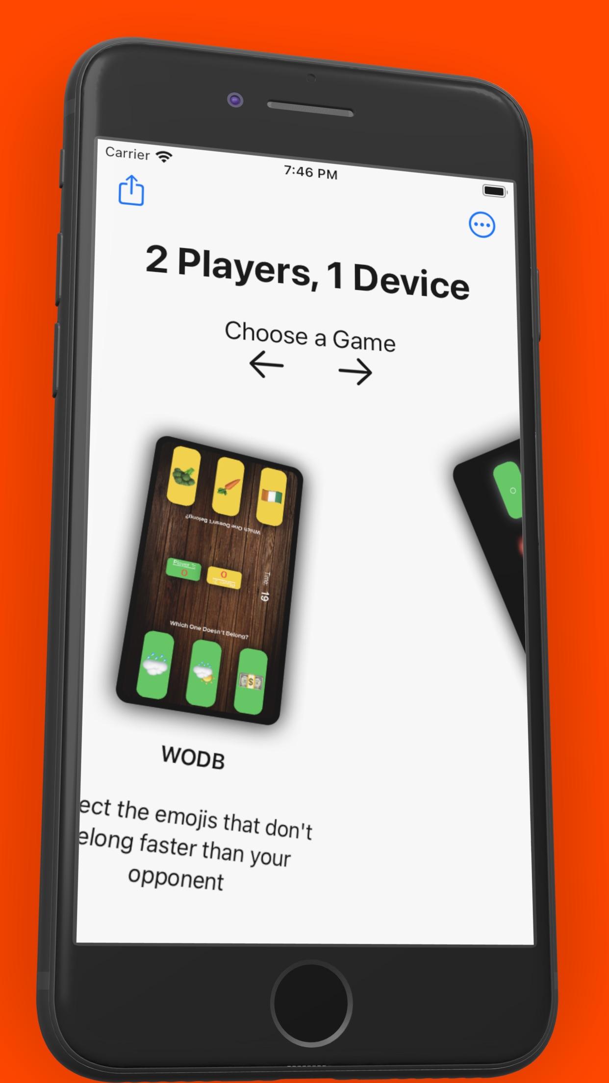 Screenshot do app 2 Players 1 Device