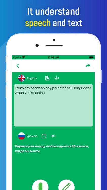 Translator app translate voice