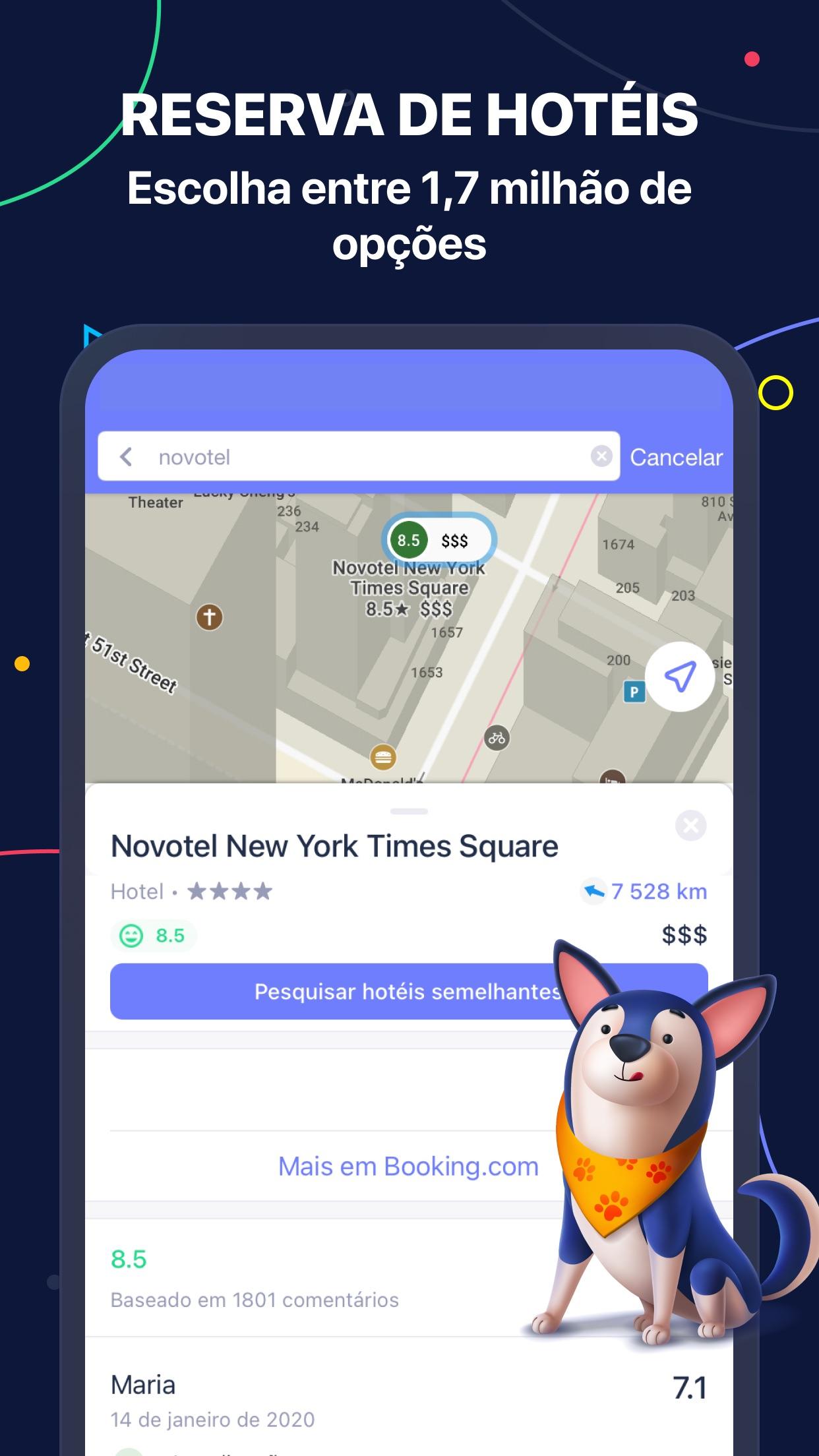 Screenshot do app MAPS.ME – Mapas offline