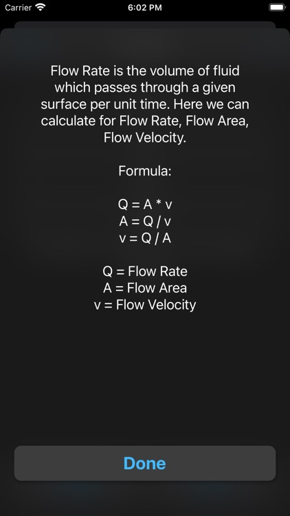 Fluid Mechanics Calculator screenshot-9