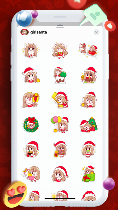 Emojis Love Girl Cut Stickers Screenshot