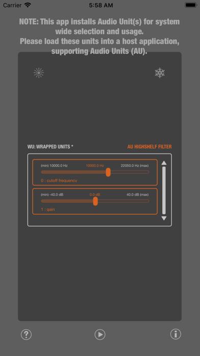 WU: AUHighShelfFilter screenshot 4