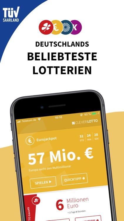 Clever Lotto & Eurojackpot App screenshot-0