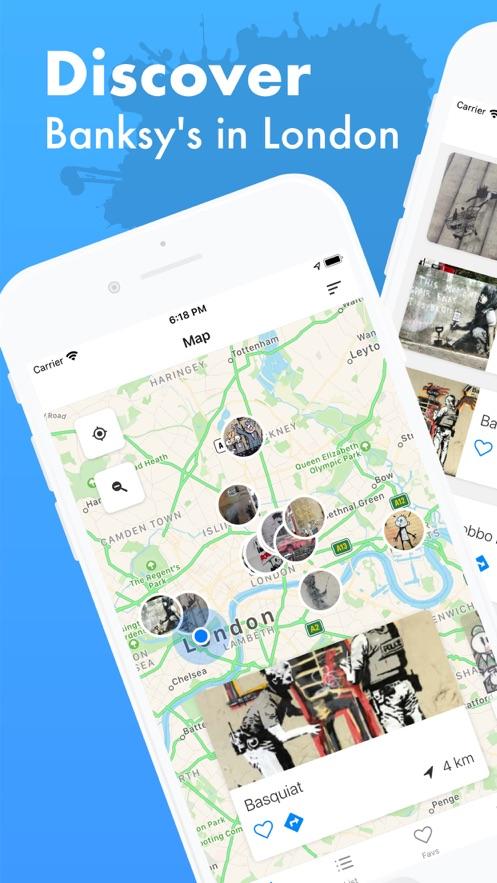 London Tour Map of Banksy App 截图