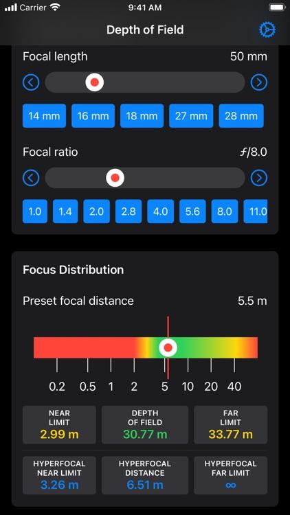 Depth of Field Estimator screenshot-5