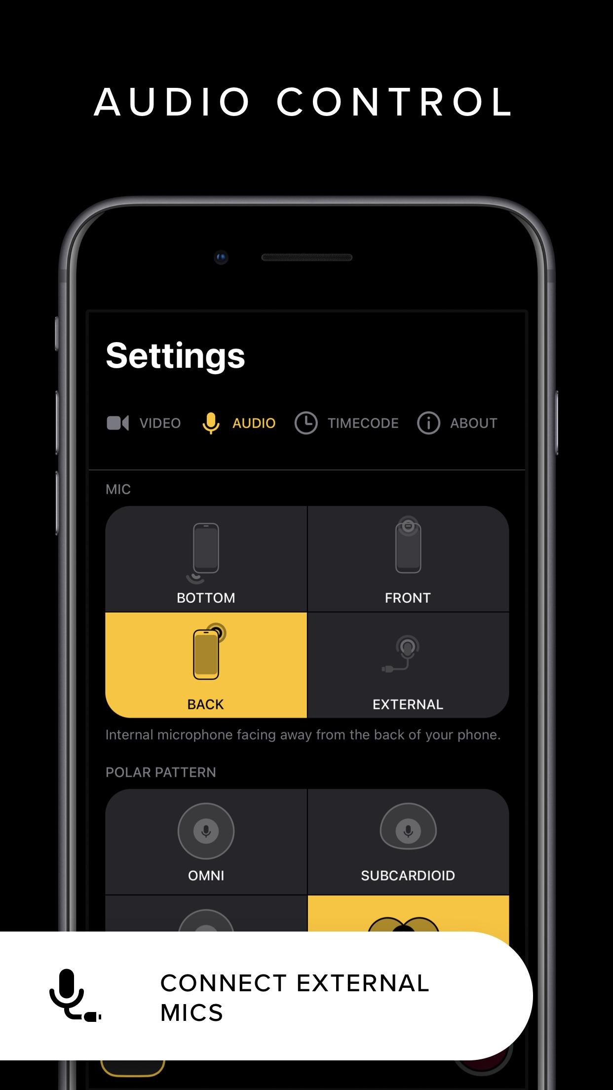 Screenshot do app REC - Pro Video Camera