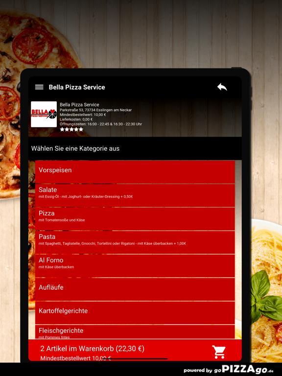 Bella Pizza Service Esslingen screenshot 8
