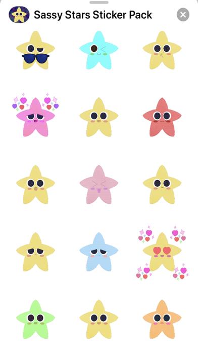 Sassy Stars Sticker Pack screenshot 3