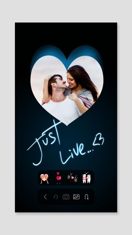 Love Sticker Frame: Background screenshot-4