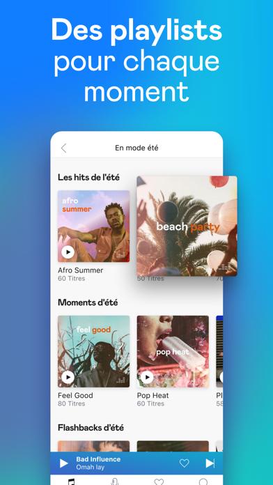 Deezer: Musique & Playlists iphone captures décran