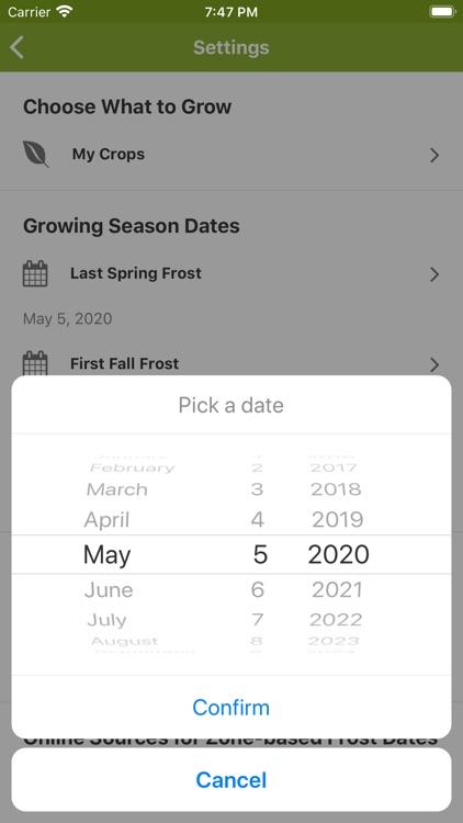 Skippys Vegetable Calendar App screenshot-5