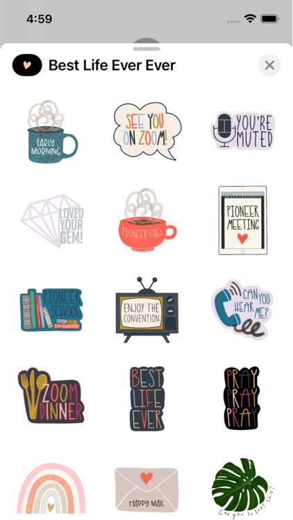 Best Life Ever Ever Stickers