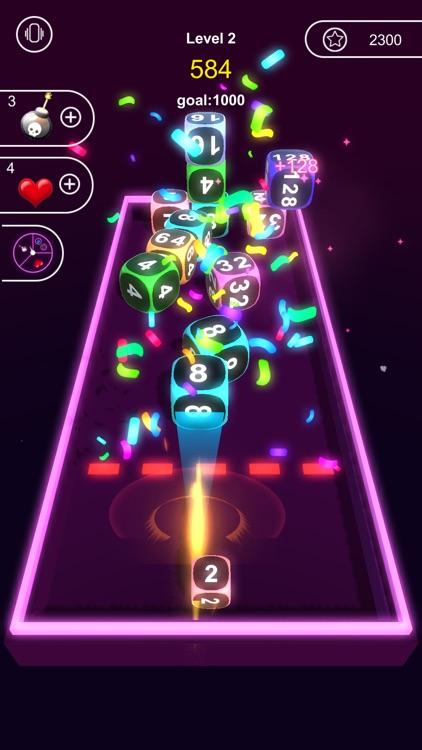 Neon Cubes 2048 screenshot-4