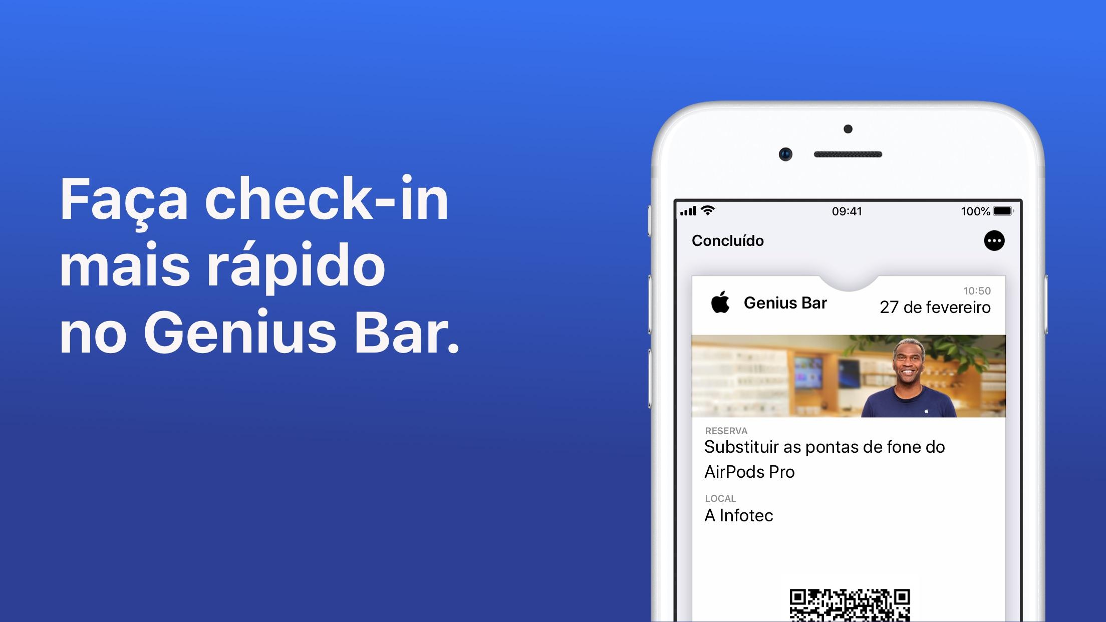 Screenshot do app Suporte da Apple