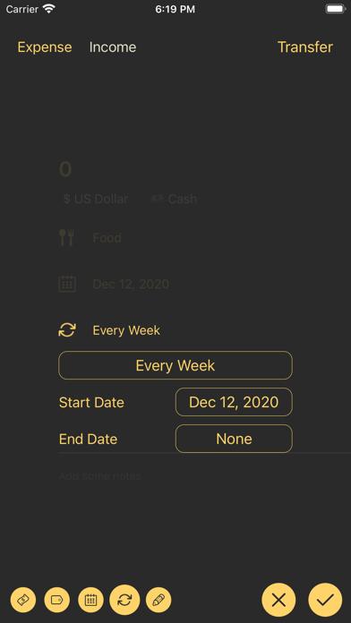 Costgram - Money tracker Screenshots