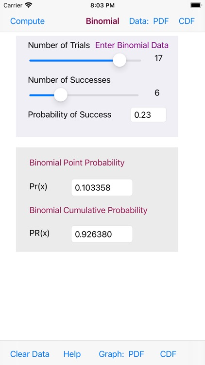Binomial Distribution screenshot-8