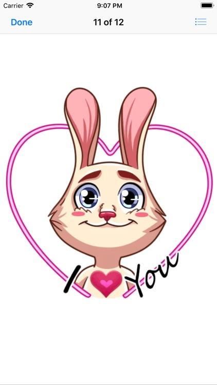 Gentle Rabbit Stickers Pack screenshot-7