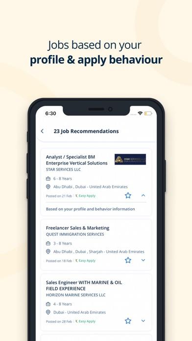 Screenshot #2 pour Naukrigulf Job Search App