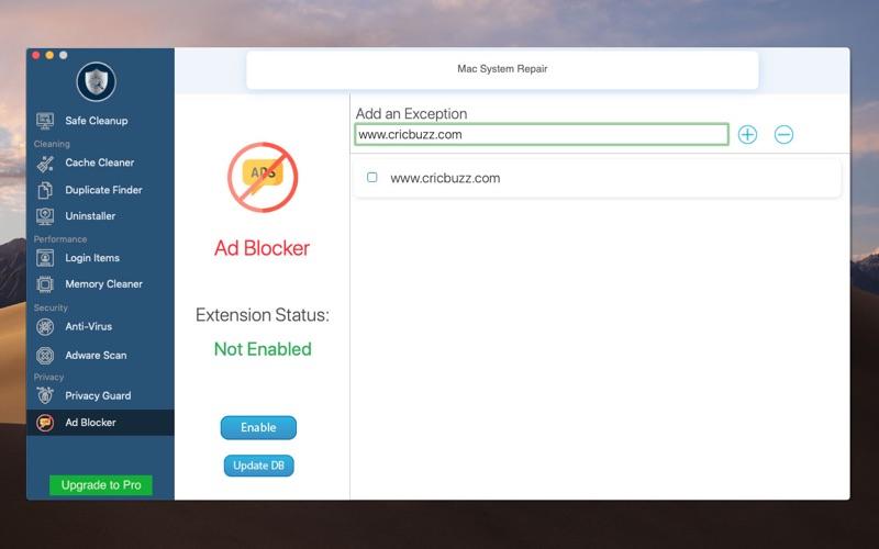 AntiVirus Cleaner  Repair Screenshot