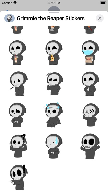 Grimmie the Reaper Stickers screenshot-3