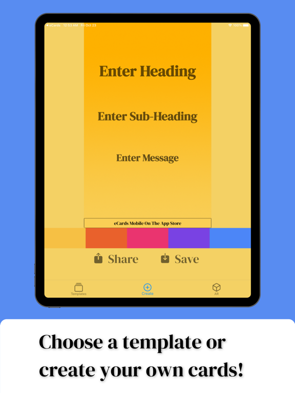 eCards mobile screenshot