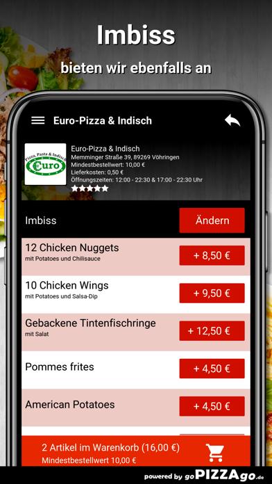 Euro-Pizza & Indisch Vöhringen screenshot 6