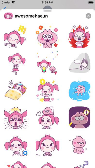 Awesome Haeun sticker Screenshot