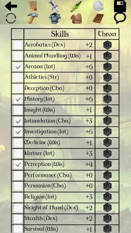 5th Character Sheet screenshot-3