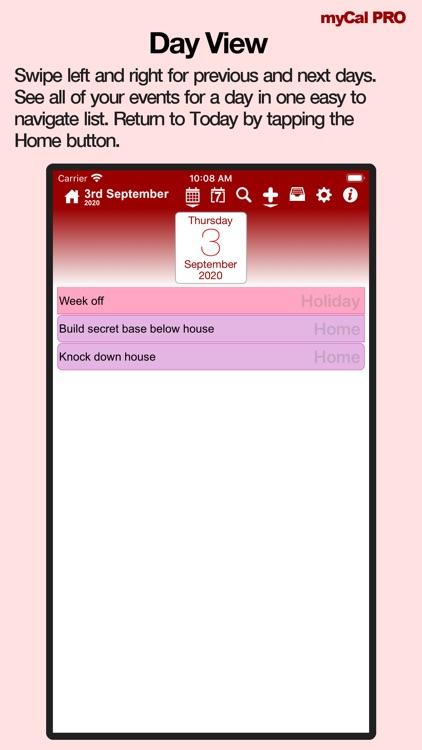 Events & Diary: myCal PRO screenshot-4