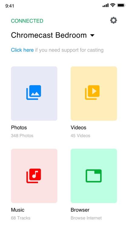 Cast for chromecast app home screenshot-5