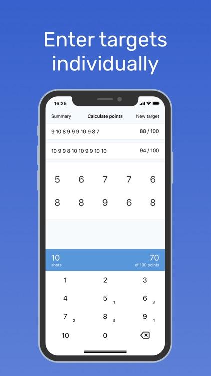 Shooting Score Calculator