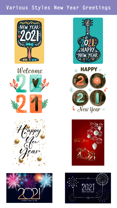 2021- Happy New Year Greetings screenshot 4