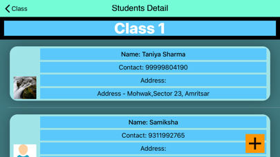 Contact The Students Screenshot