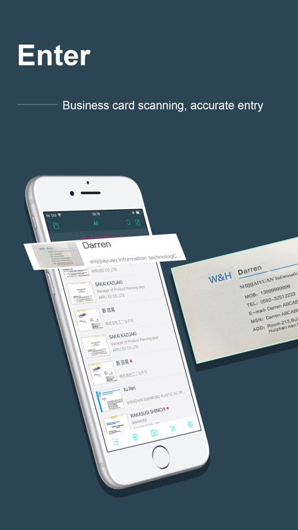 FoxCard-Business Card reader