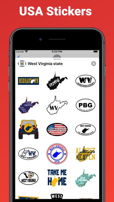 West Virginia state USA emoji screenshot 2
