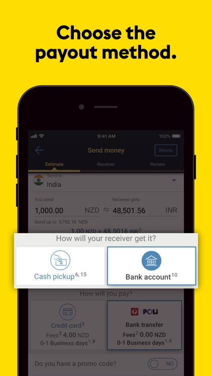 Western Union : Money Transfer screenshot-3