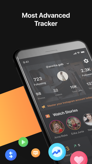 Tracker + Followers Insights Screenshot
