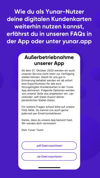 Herunterladen Yunar – Meine Kundenkarten für Pc