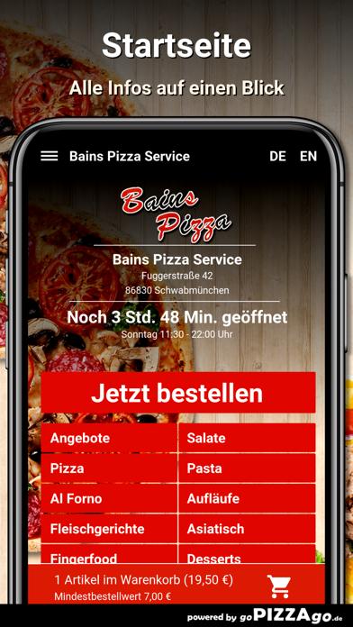 Bains Pizza Schwabmünchen screenshot 2
