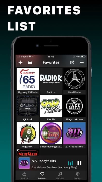 FM Radio Tuner live Player app screenshot-3