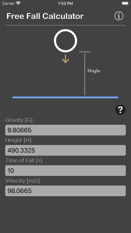 Free Fall Calculator screenshot-5