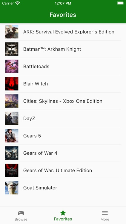 Game Pass list for Xbox XCloud