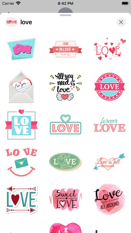 """""""Love"""" - Stickers for iMessage screenshot-9"""