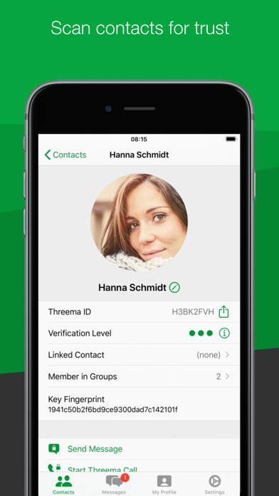 Threema. The Secure Messenger Screenshot