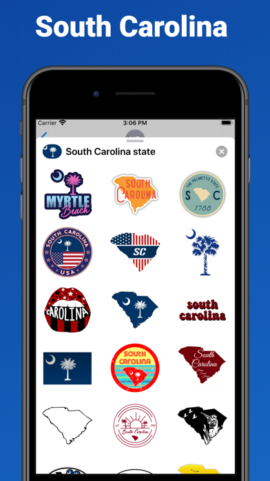 South Carolina state USA emoji screenshot 1
