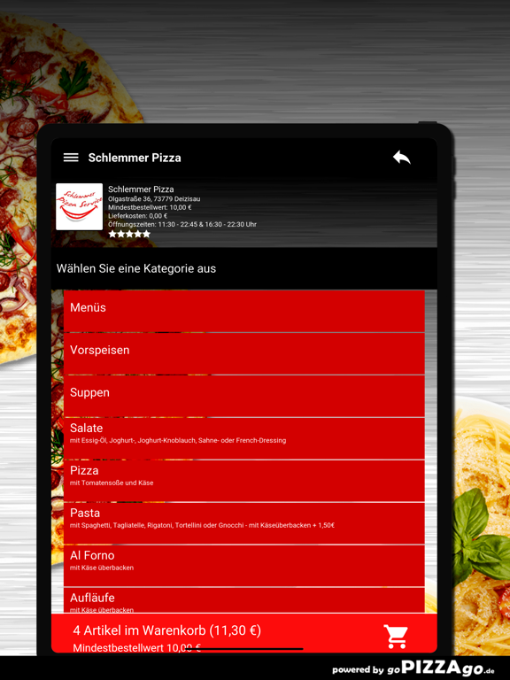 Schlemmer Pizza Deizisau screenshot 8